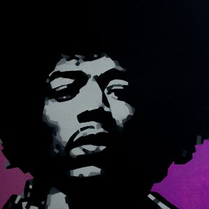 Hendrix Pink Oil Painting
