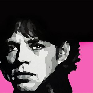 Mick Jagger Pink Oil Painting